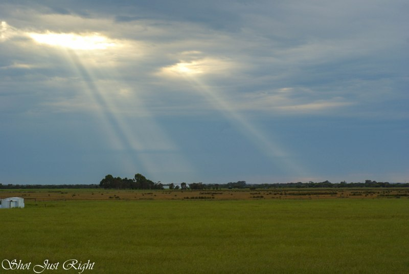 Rays through the clouds at Kingston SE South Australia