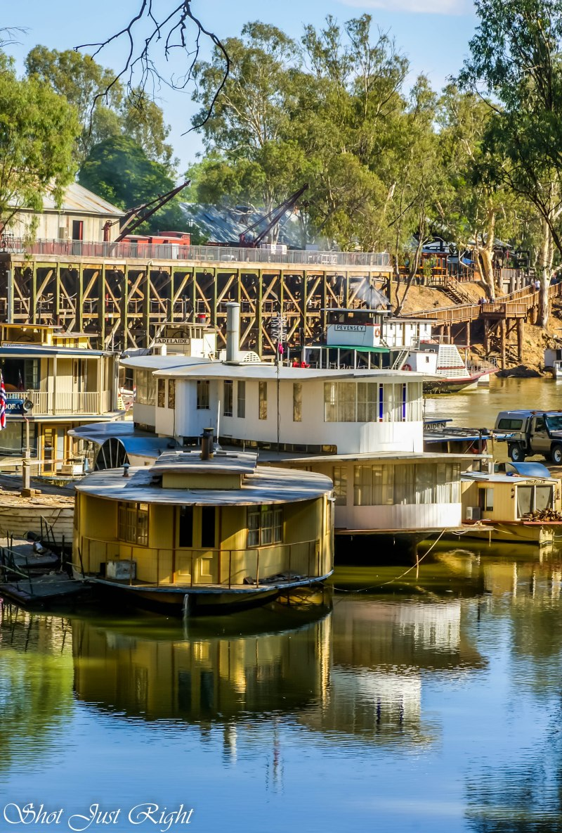 Updated view of the Wet Dock at Echuca Port