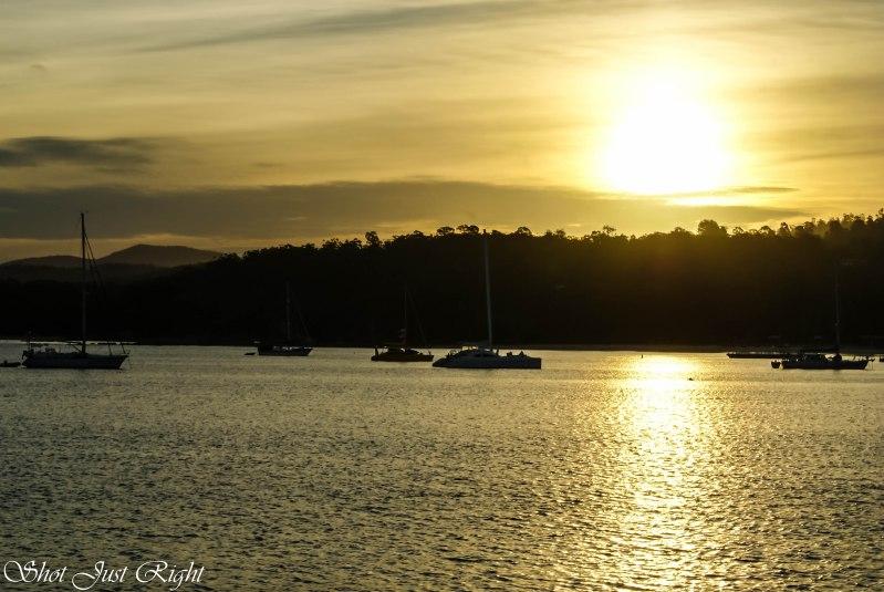 Golden glow at Snub Bay