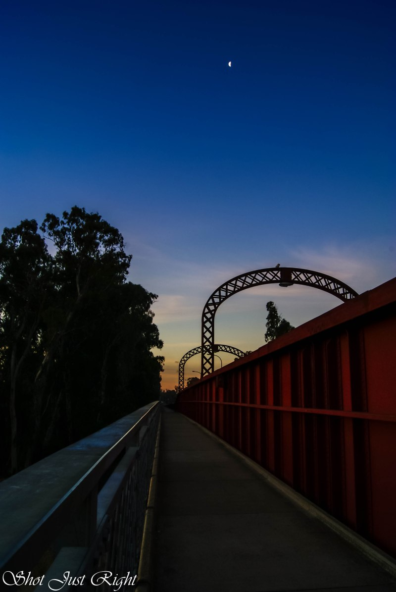 Echuca Moama Bridge at sunset