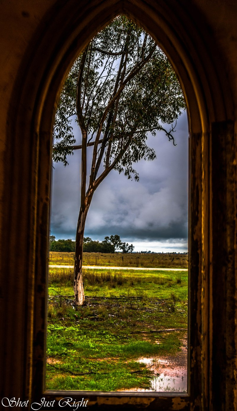 Through a Church window - Terricks Methodist Church