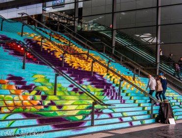 Steps at Southern Cross Station Melbourne.