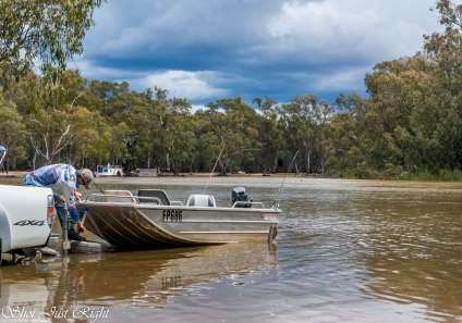 Enjoying the Murray At Barmah under threatening Skies