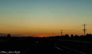 Sunset on Cobb Highway, Moama