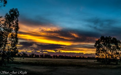 Sunset tonight in Rural Moama