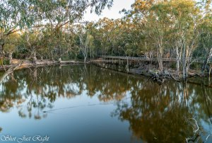 Evening at the Lagoon in Moama