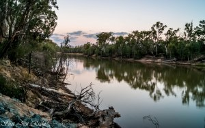 HDR of Murray River, opposite side of the sunset