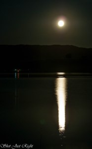 Moon rising over Burrendong Dam