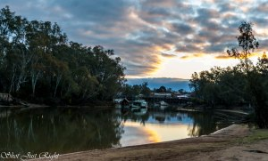The Hero and the Port of Echuca from Moama Beach